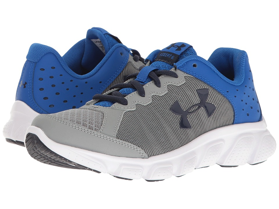 Under Armour Kids - UA BPS Assert 6 (Little Kid) (Steel/Ultra Blue/Midnight Navy) Boys Shoes