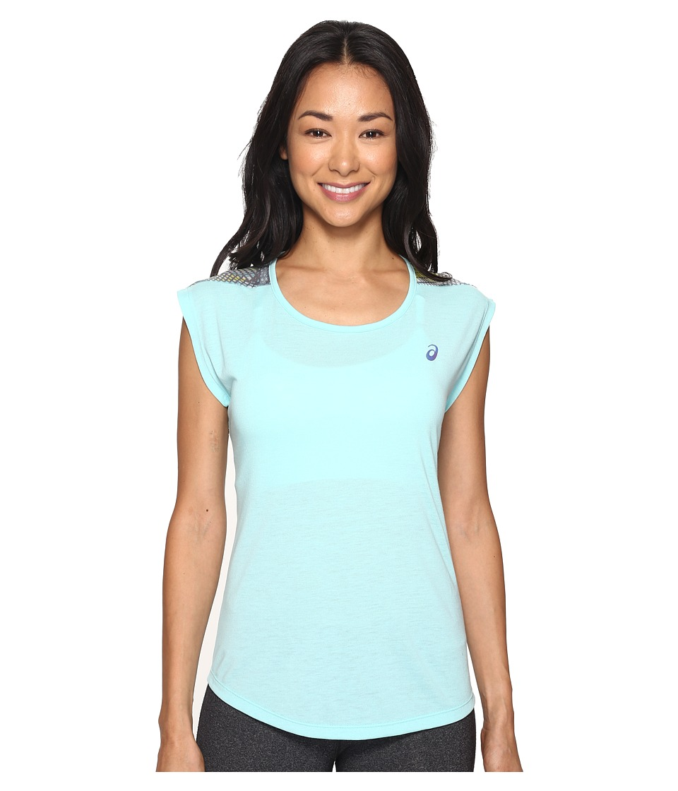 ASICS - Novel-Tee (Aqua Splash) Women's T Shirt