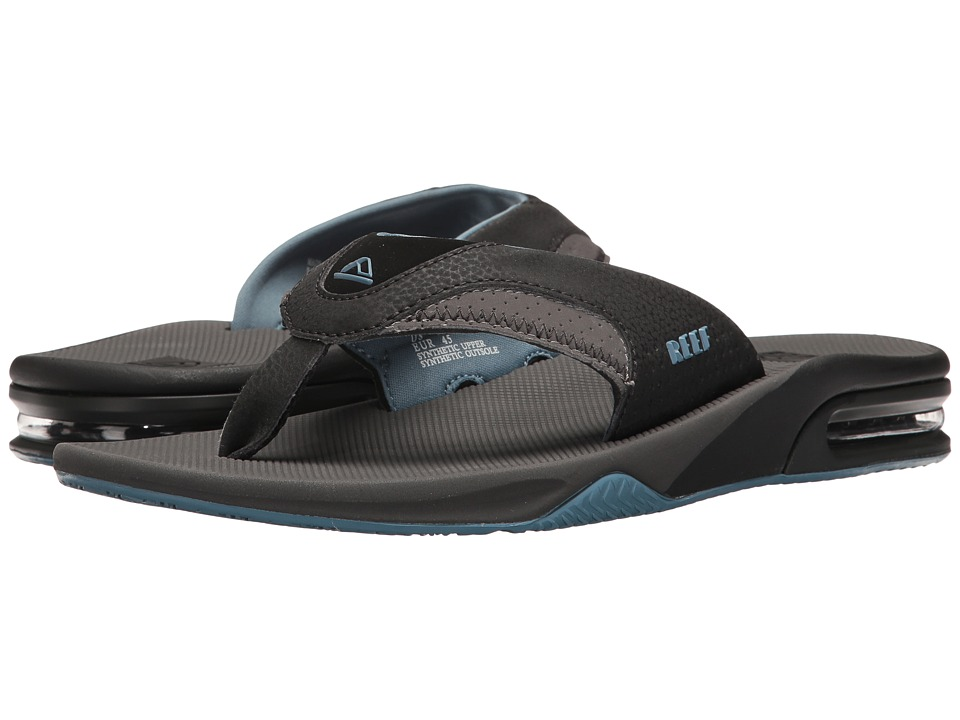 Reef - Fanning (Grey/Light Blue) Men's Sandals