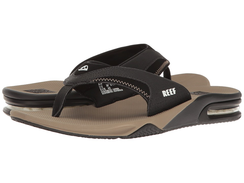 Reef - Fanning (Black/Tobacco) Men's Sandals