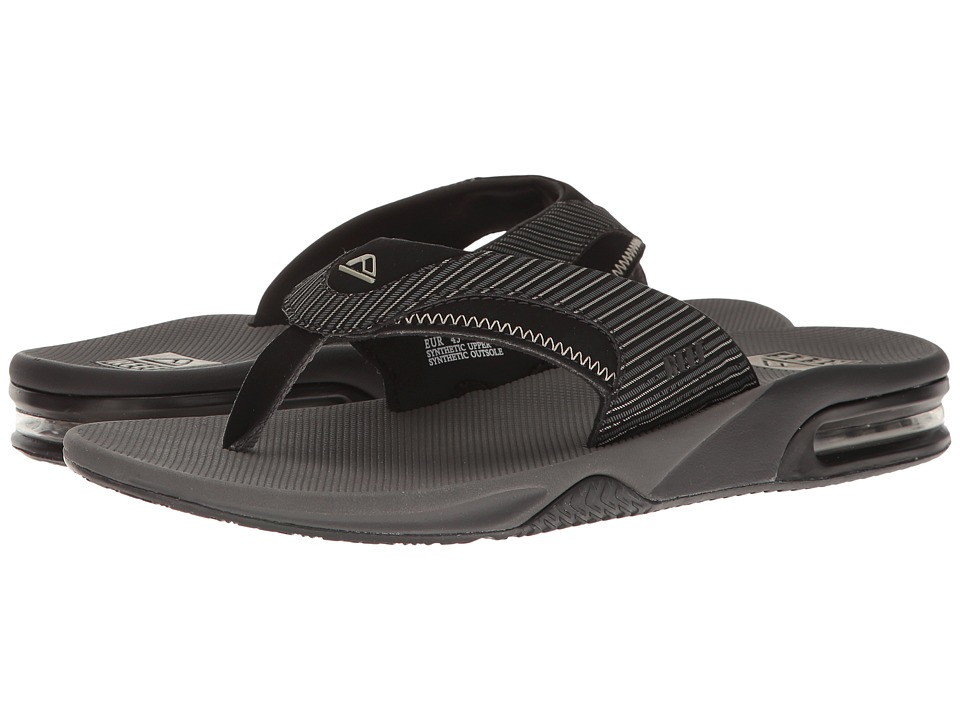 Reef - Fanning Prints (Grey Pinstripes) Men's Sandals