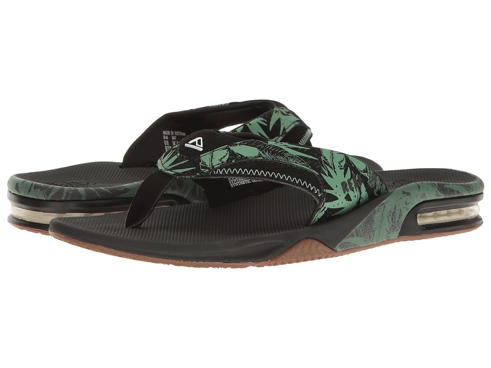 Reef - Fanning Prints (Green Botanical) Men's Sandals