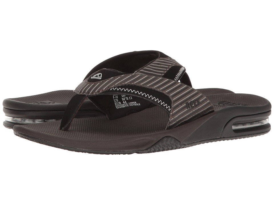 Reef - Fanning Prints (Brown Pinstripe) Men's Sandals