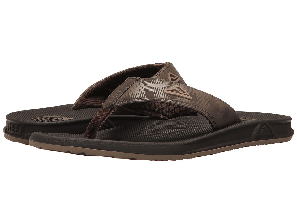 Reef - Phantom Prints (Brown/Brown Plaid) Men's Sandals