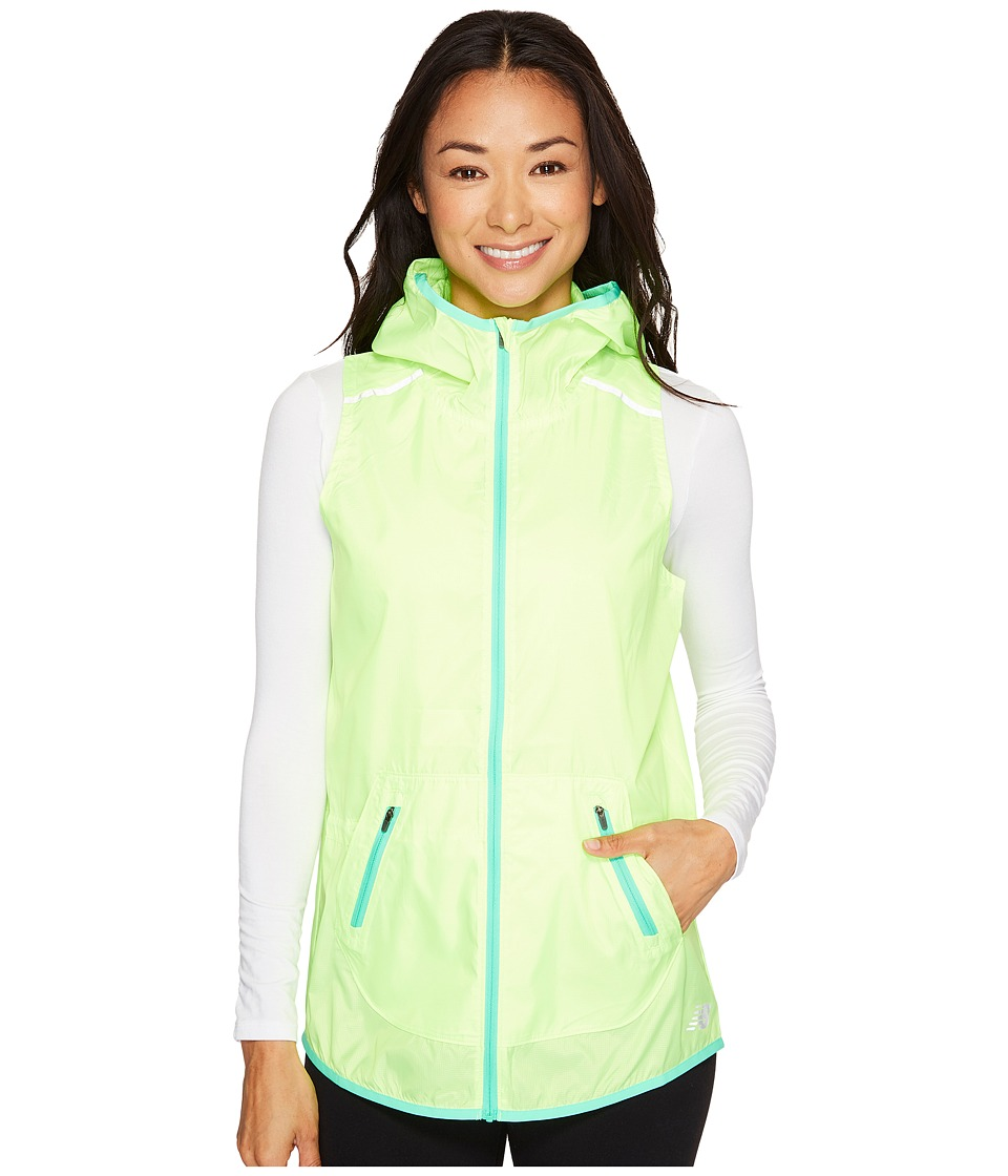 New Balance - Windcheater Vest (Lime Glo) Women's Vest