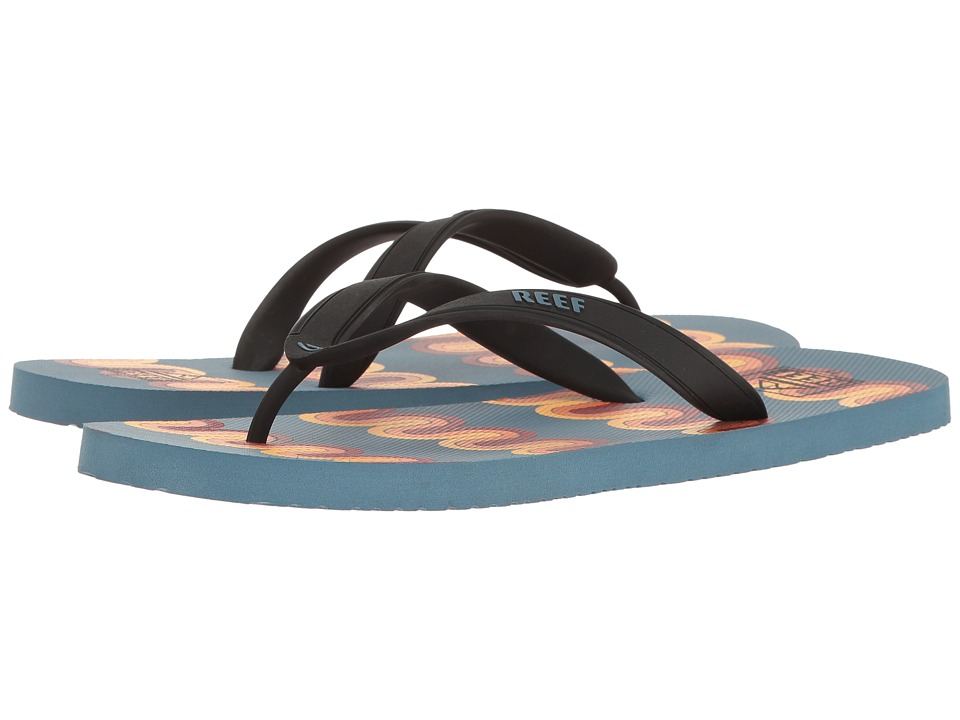 Reef - Switchfoot Print (Blue/Multi Lines) Men's Sandals