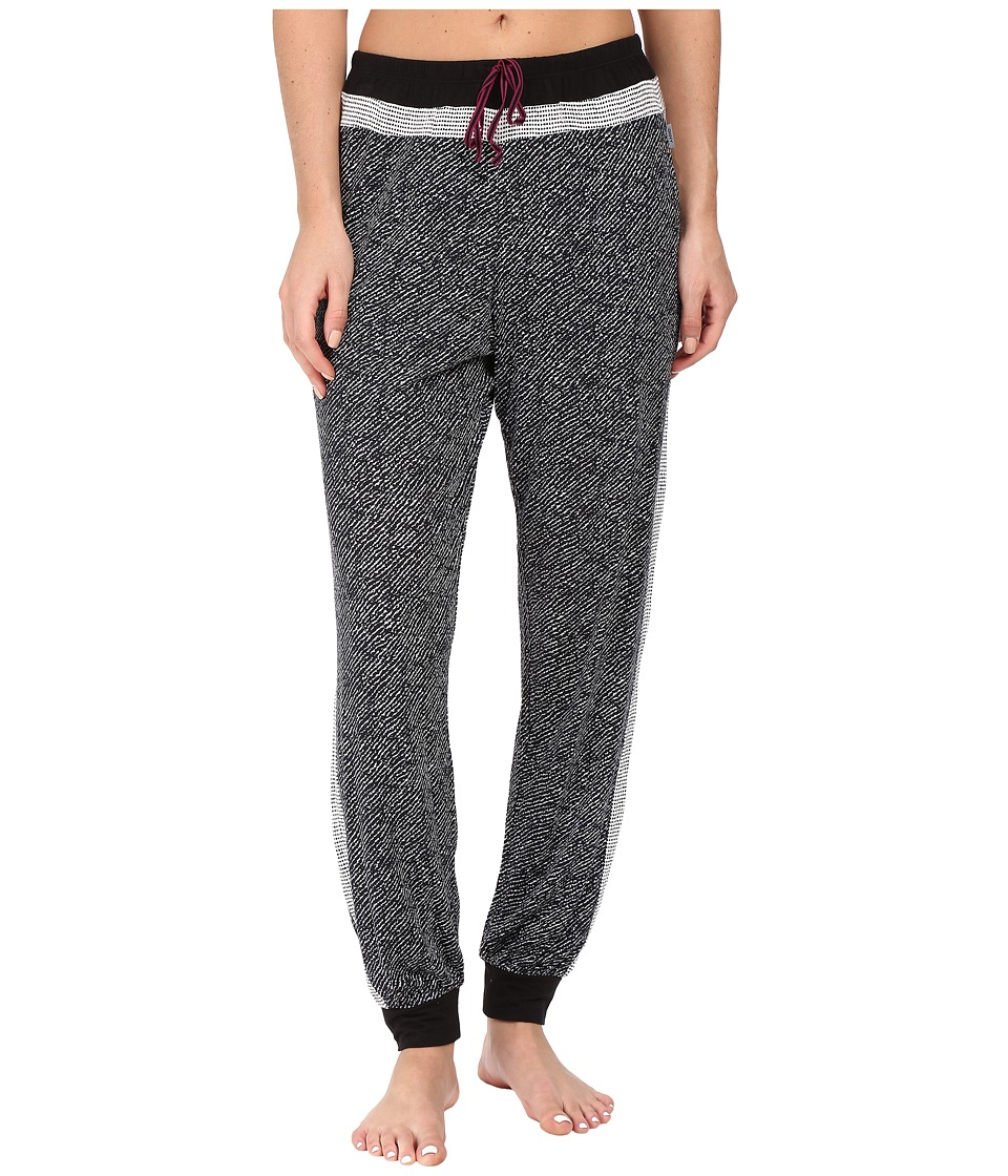 DKNY - Contrast Stripe Jogger Pants (Black Abstract) Women's Pajama