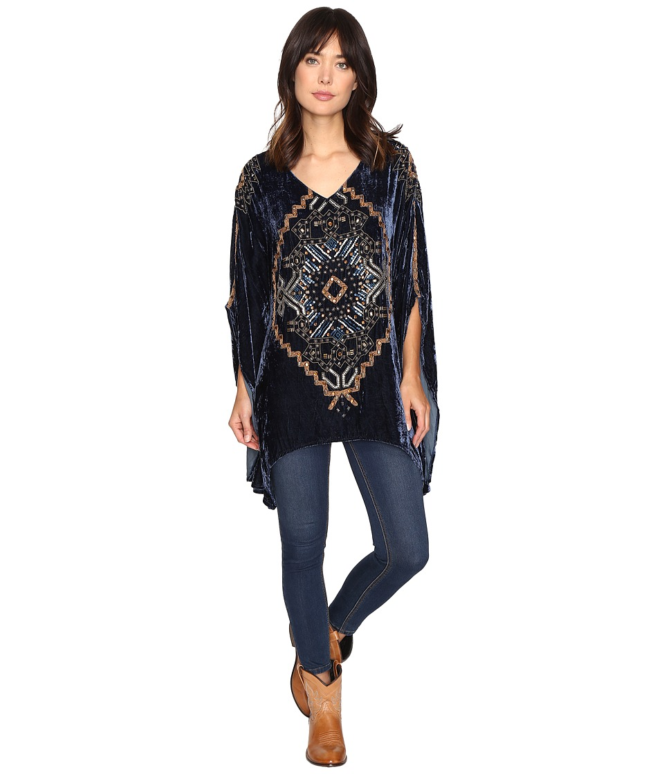 Double D Ranchwear - Weeping Moon Poncho (Mineral Well) Women's Coat