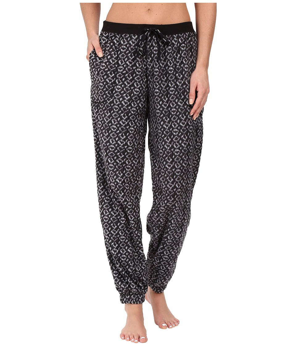 DKNY - Fleece PJ Pants (Black Texture Geo) Women's Pajama