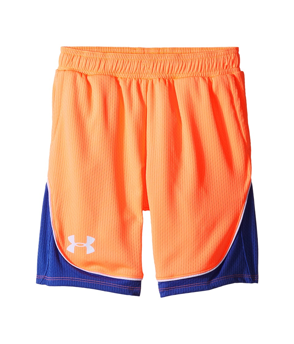 Under Armour Kids - Pop A Shot Basketball Shorts (Big Kids) (London Orange/Deep Periwinkle) Girl's Shorts