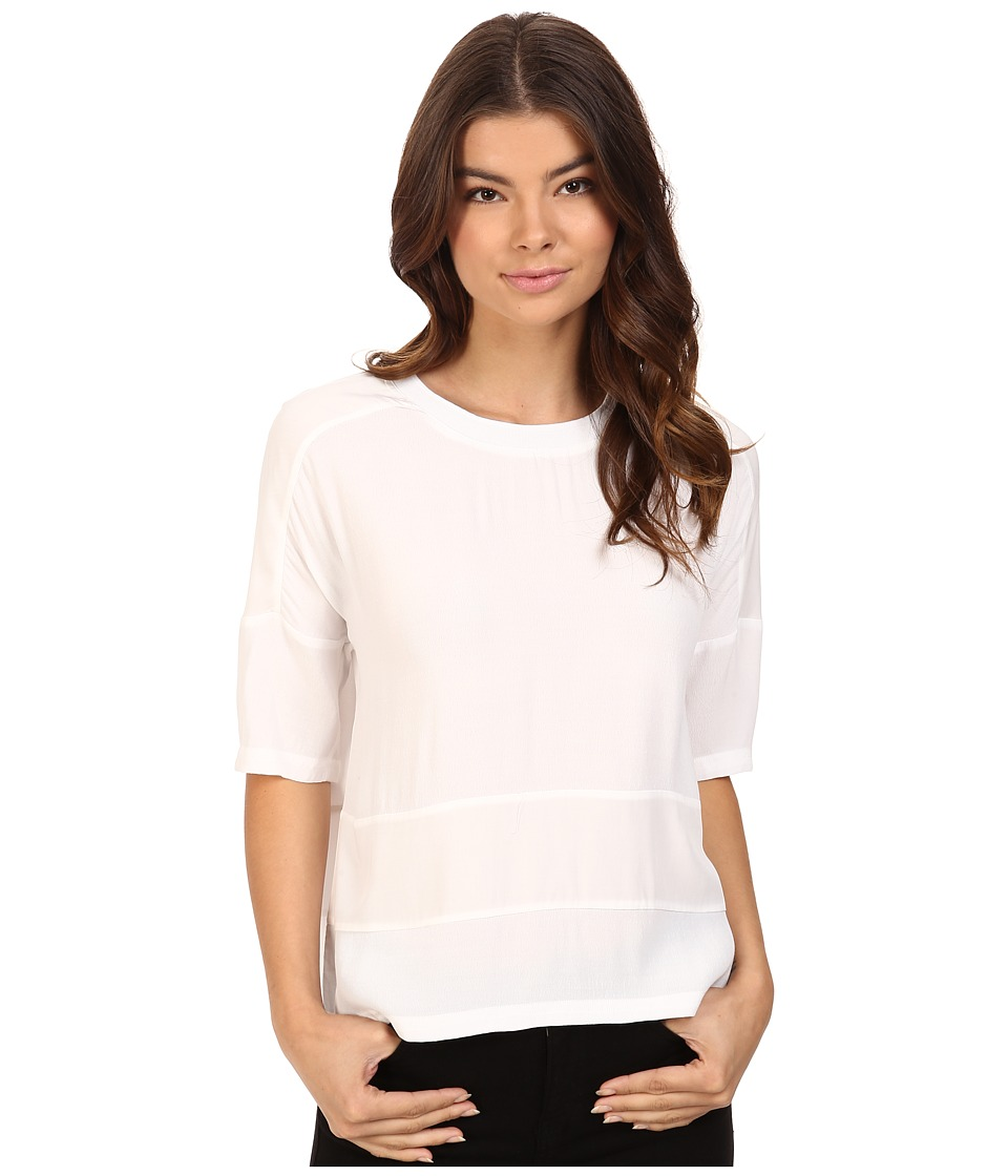 Bench - Pictograph Relaxed Tee Shirt (Bright White) Women's T Shirt