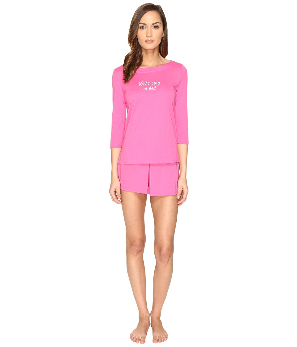Kate Spade New York - Let's Stay in Bed Skort PJ Set (Raspberry) Women's Pajama Sets