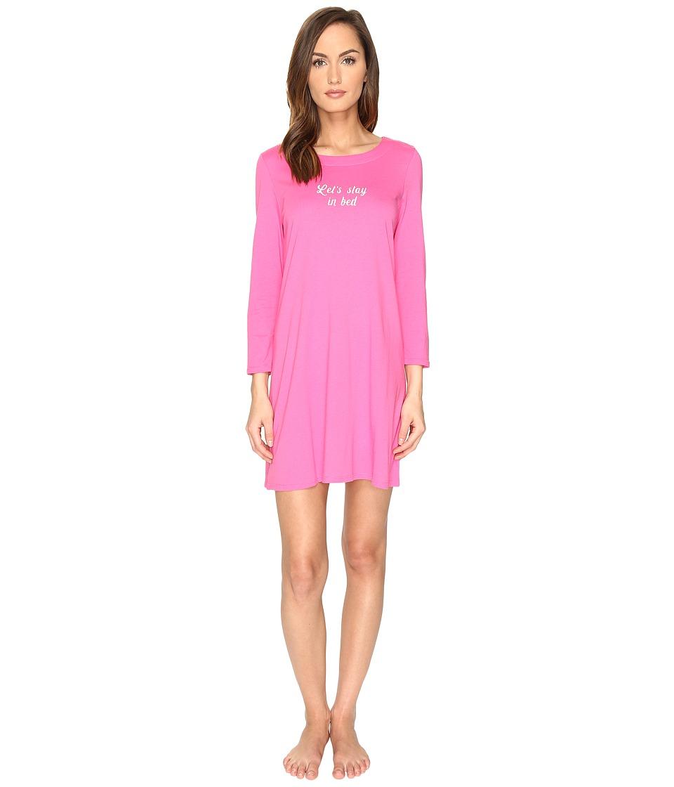 Kate Spade New York - Let's Stay in Bed Sleepshirt (Raspberry) Women's Pajama