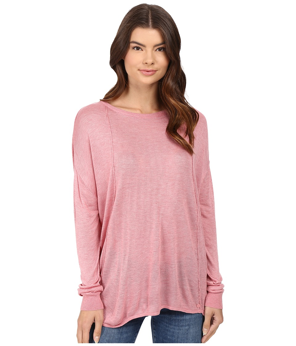 Bench - Canvass Long Sleeve Sweater (Brandied Apricot Marl) Women's Sweater
