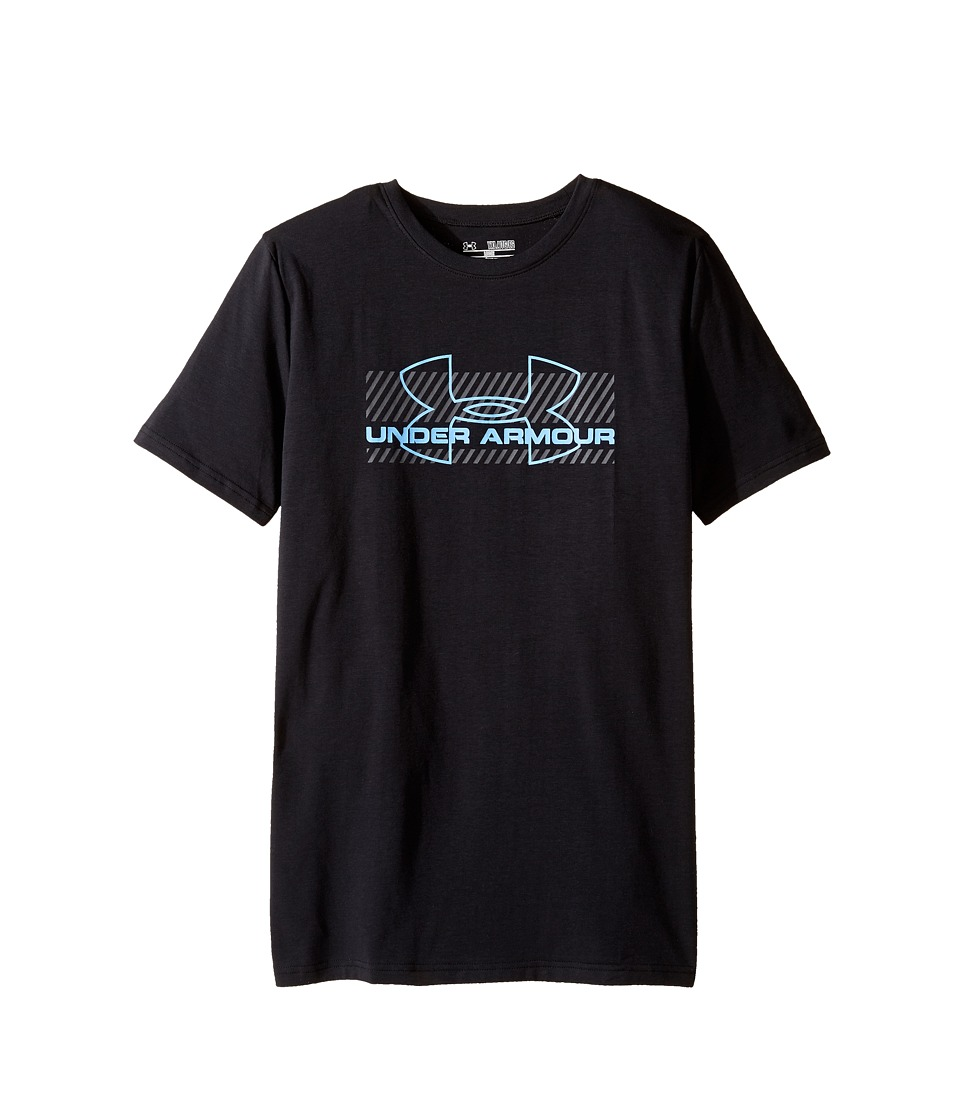 Under Armour Kids - UA ZagZig Tee (Big Kids) (Black/Carolina Blue) Boy's T Shirt