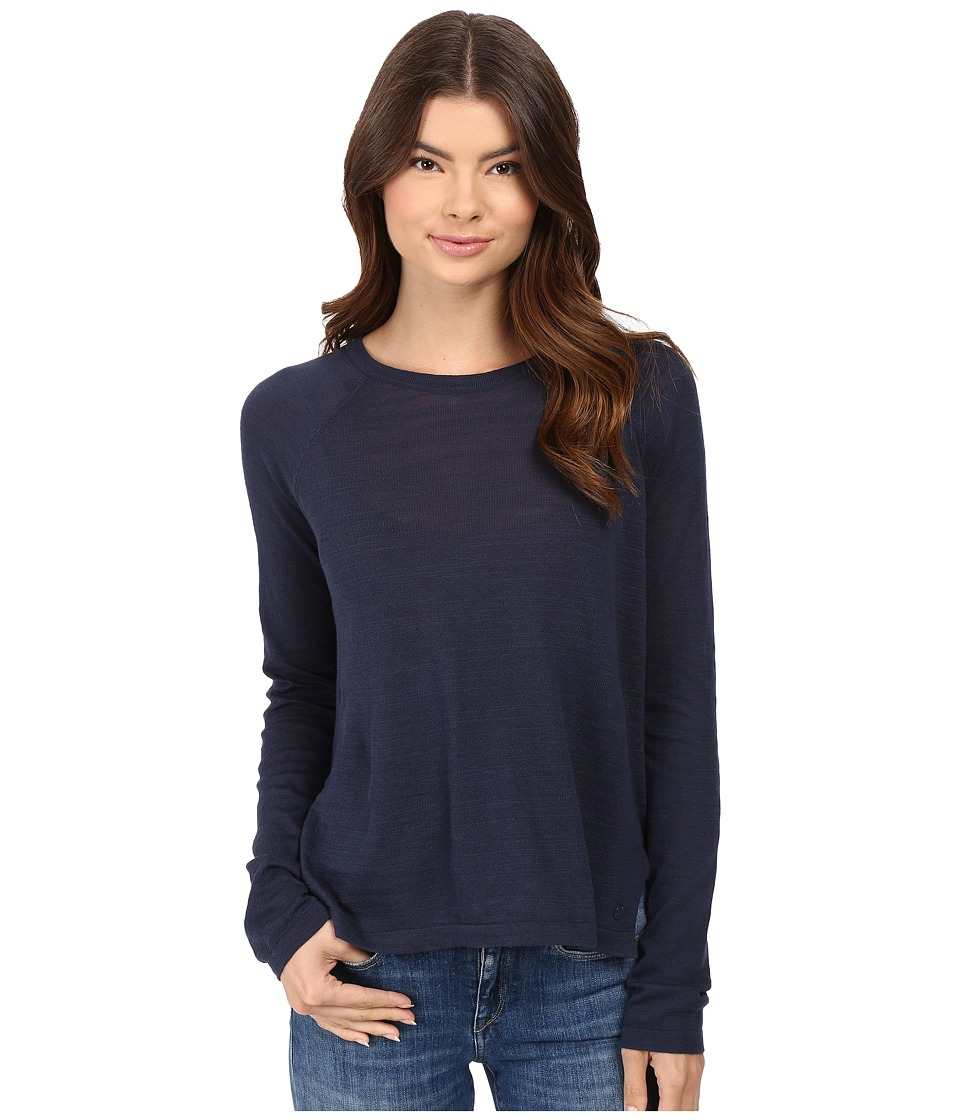 Bench - Base High-Low Sweater (Dress Blues) Women's Sweater
