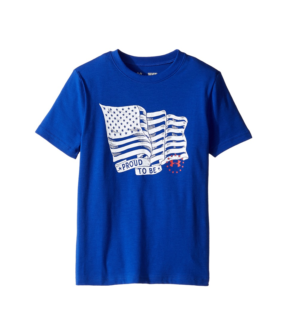 Under Armour Kids - Proud To Be Tee (Big Kids) (Royal/White) Boy's T Shirt