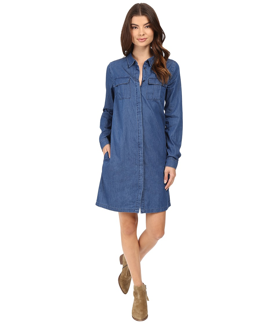Bench - Ingenuity Denim Dress (Mid Rinse) Women's Dress