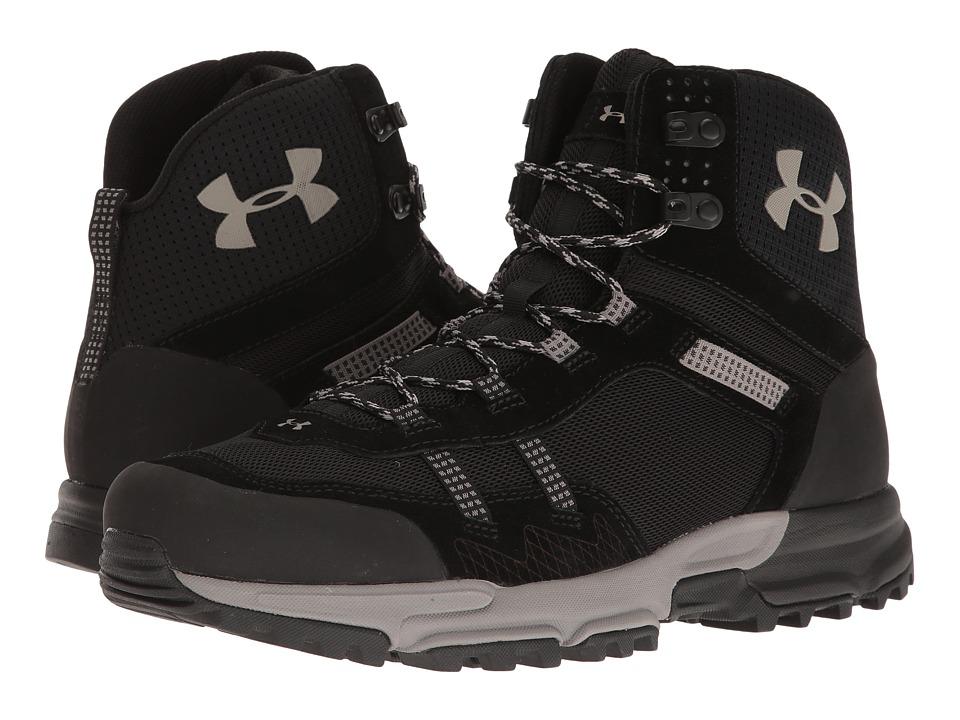 Under Armour - UA Defiance Mid (Black/Black/Pewter) Men's Boots