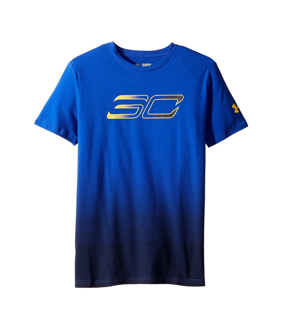 Under Armour Kids - Steph Curry 30 Player Fade Short Sleeve Tee (Big Kids) (Royal/Taxi) Boy's T Shirt