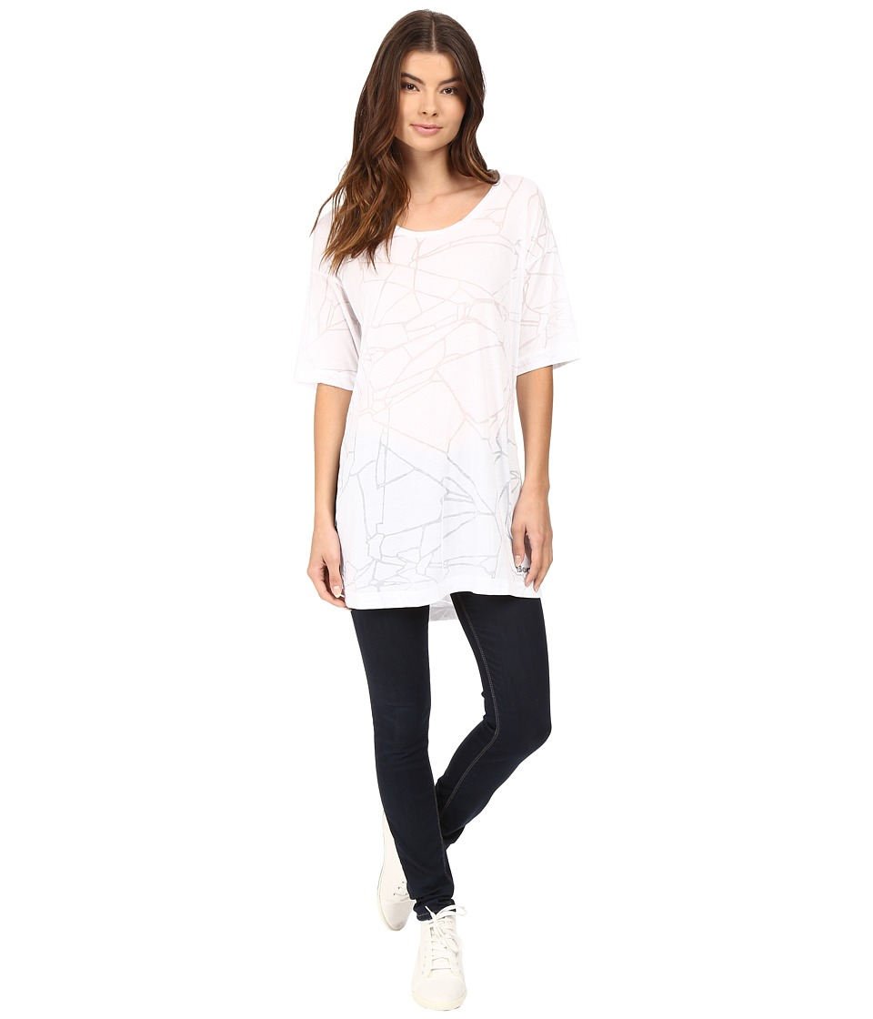 Bench - Corridor Burnout Tee Shirt (Bright White) Women's T Shirt