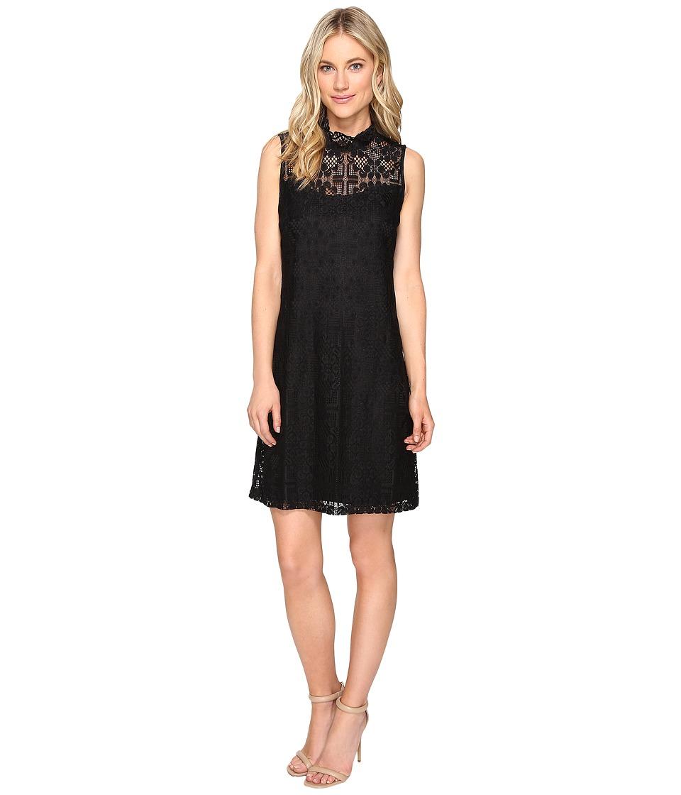 Christin Michaels - Baton Rouge Mock Neck (Black) Women's Clothing