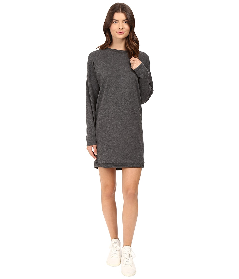 Bench - Token Sweatshirt Dress (Anthracite Marl) Women's Dress