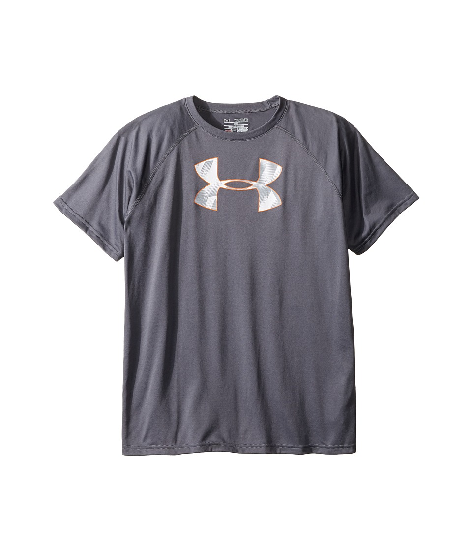 Under Armour Kids - S/S UA Techtm Big Logo (Big Kids) (Graphite) Boy's T Shirt