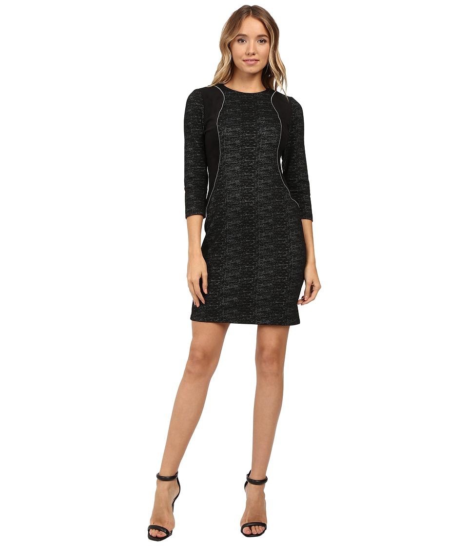 Christin Michaels - Charlotte Print Dress (Black) Women's Dress