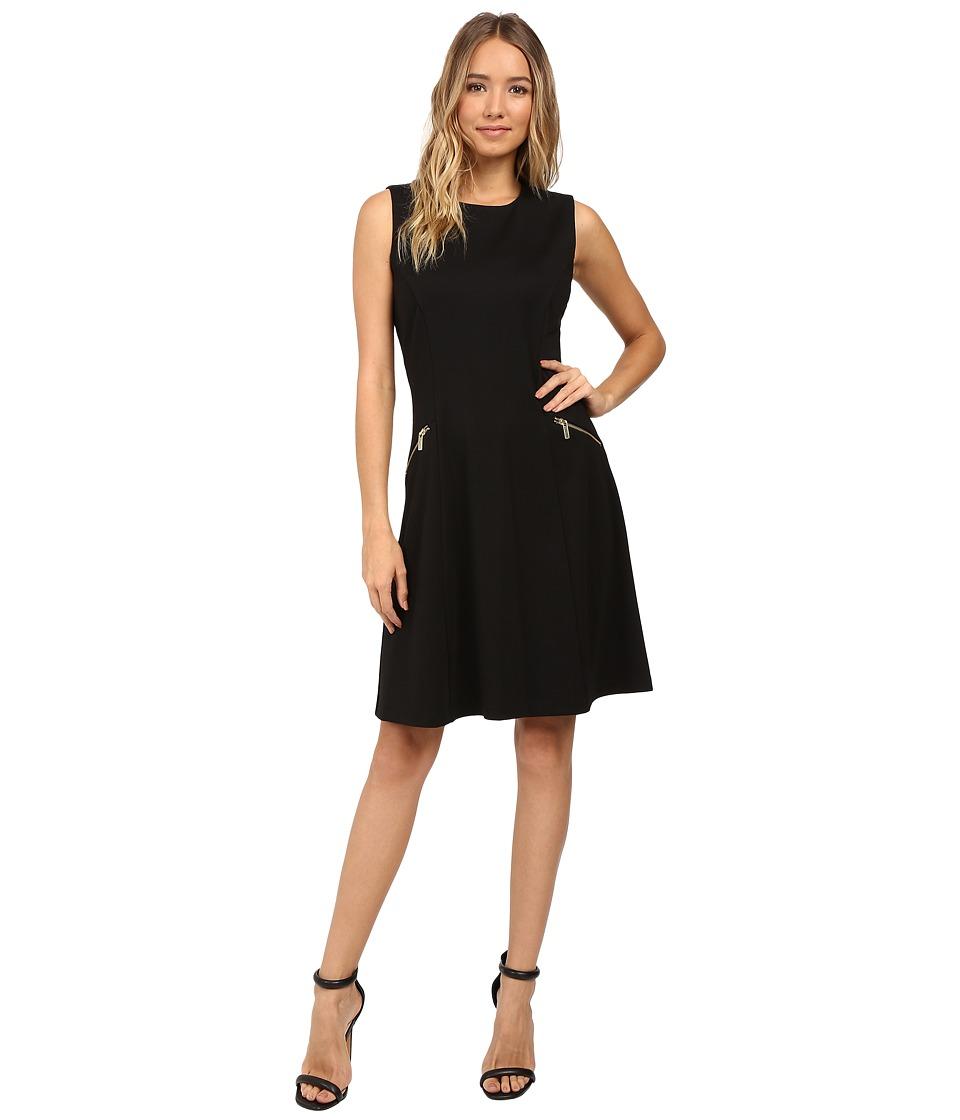 Christin Michaels Dandridge Ponte Dress (Black) Women