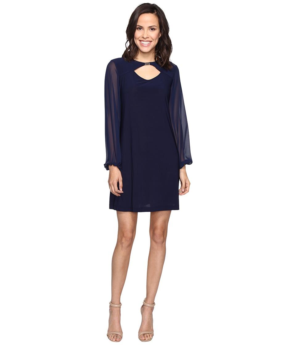 Christin Michaels Collinwood Dress (Navy) Women