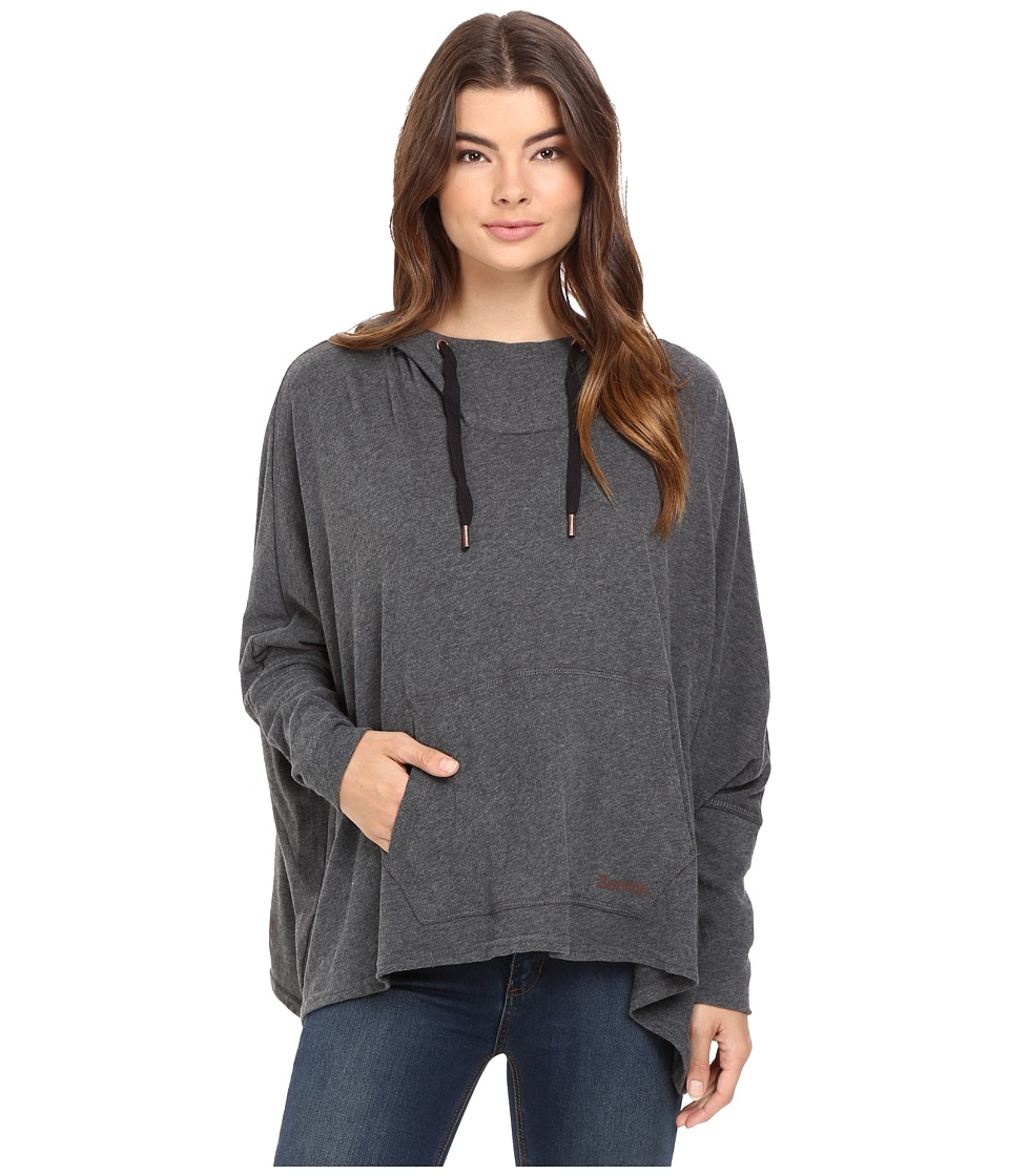Bench - Sharpness Loose Sweatshirt (Anthracite Marl) Women's Sweatshirt