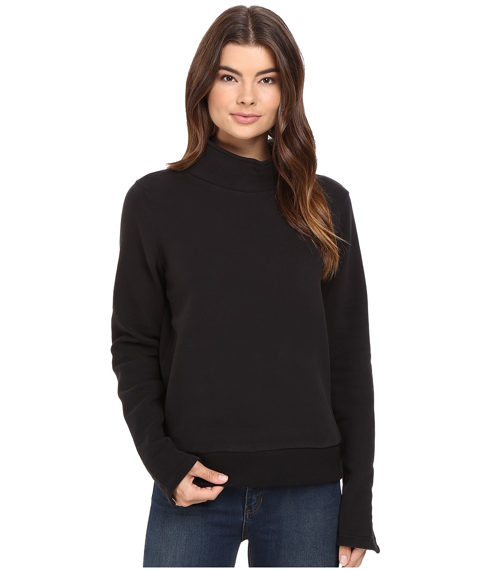 Bench - Repay Mock Neck Sweatshirt (Jet Black) Women's Sweatshirt