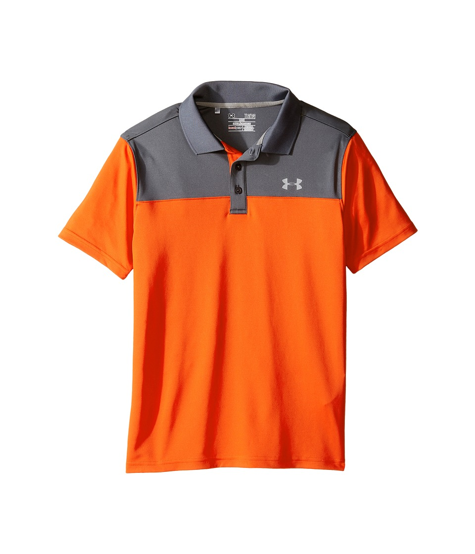 Under Armour Kids - Performance Polo Blocked (Big Kids) (Red/Academy) Boy's Clothing