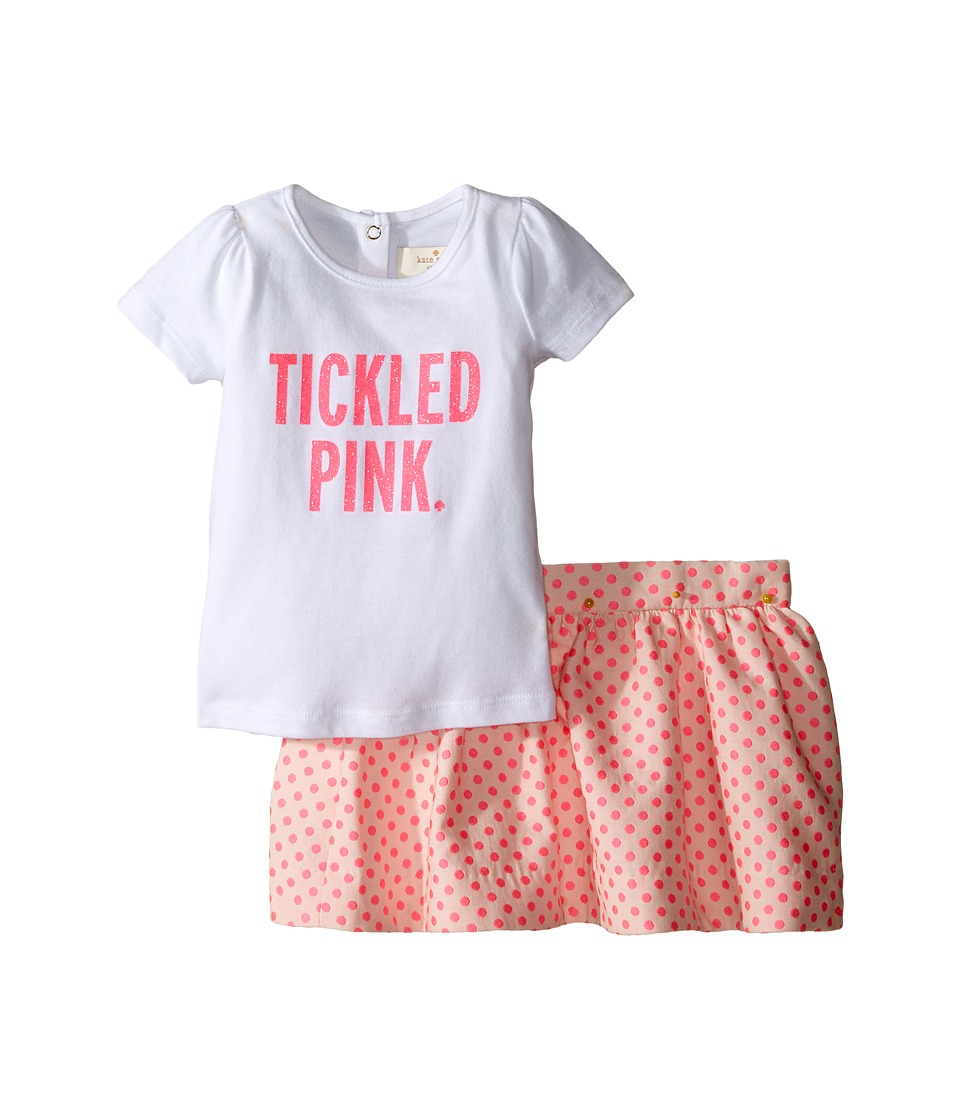 Kate Spade New York Kids - Tickled Pink Set (Infant) (Fresh White) Girl's Active Sets