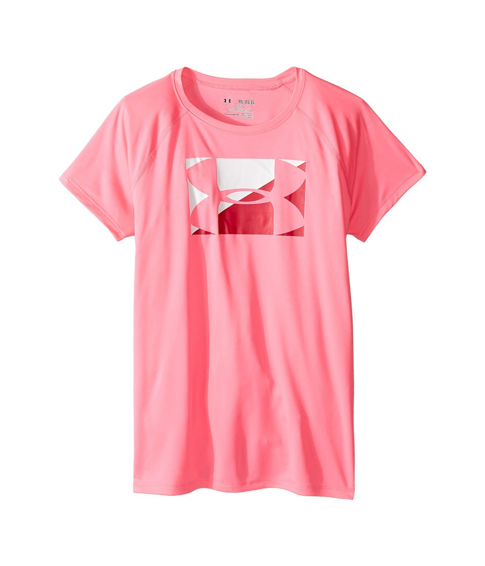 Under Armour Kids - Big Logo Short Sleeve Tee (Big Kids) (Pink Punk/White) Girl's T Shirt