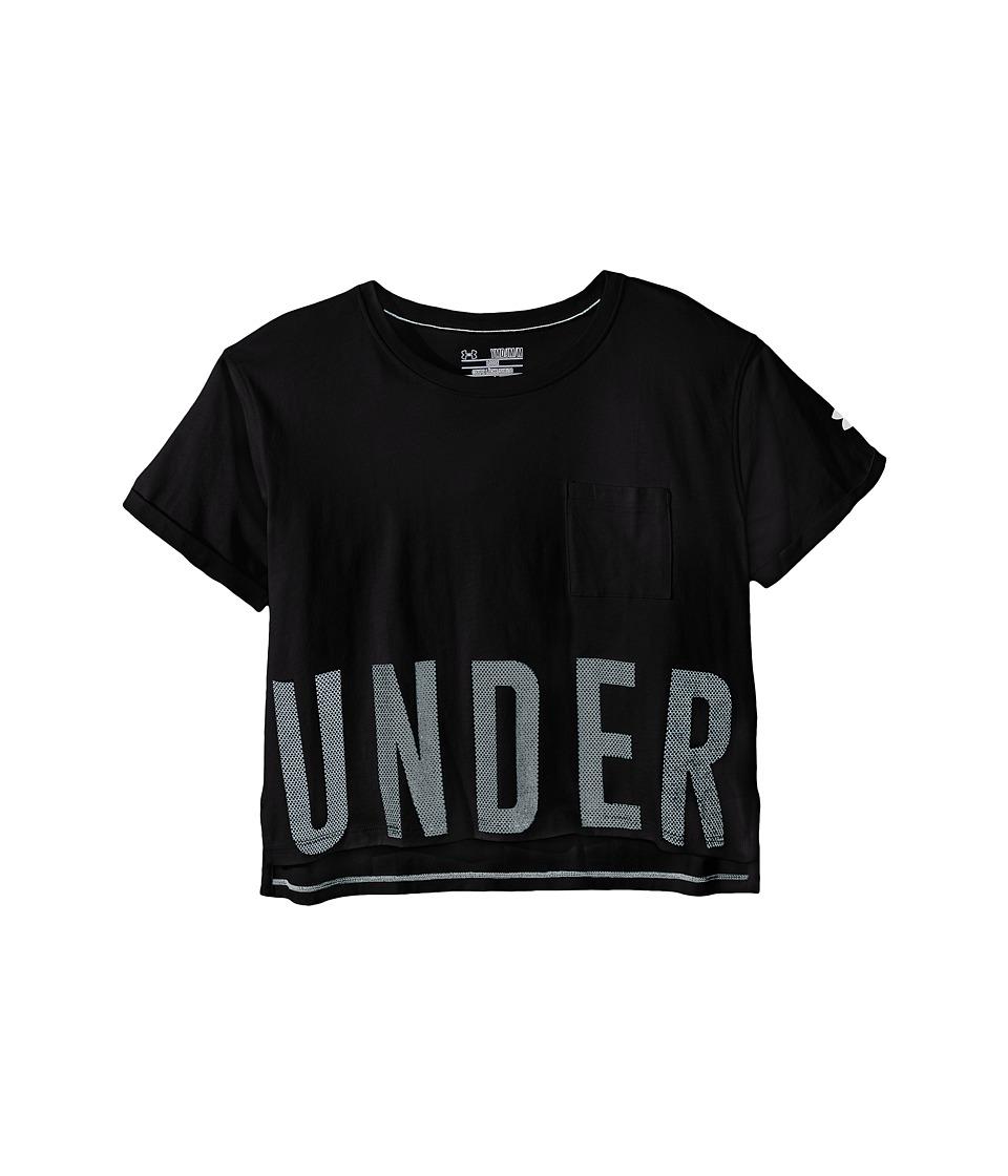 Under Armour Kids - Studio Tee (Big Kids) (White/Glacier Gray) Girl's T Shirt