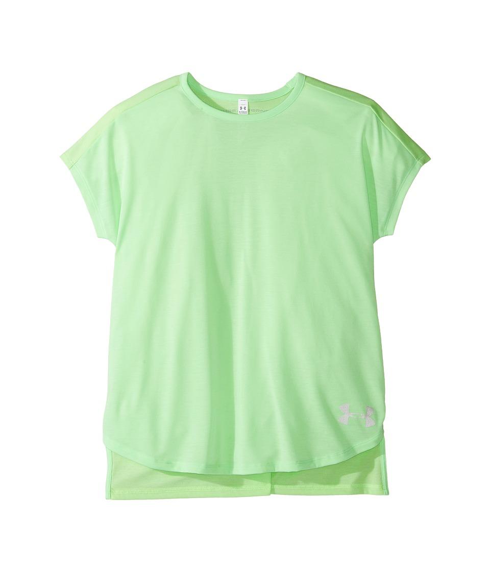 Under Armour Kids - Threadborne Play Up Tee (Big Kids) (Summer Lime/Summer Lime) Girl's T Shirt