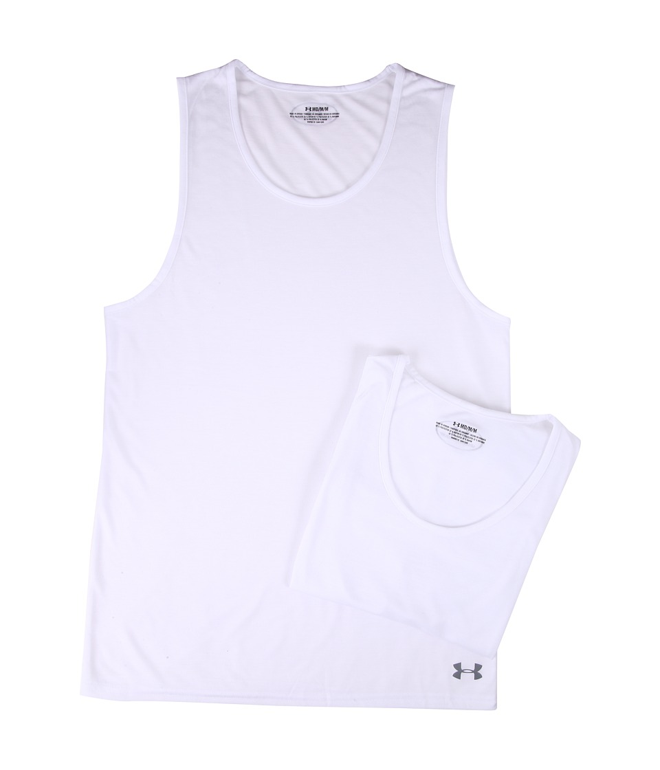 Under Armour - Core 2-Pack Tank Undershirt (White) Men's Underwear