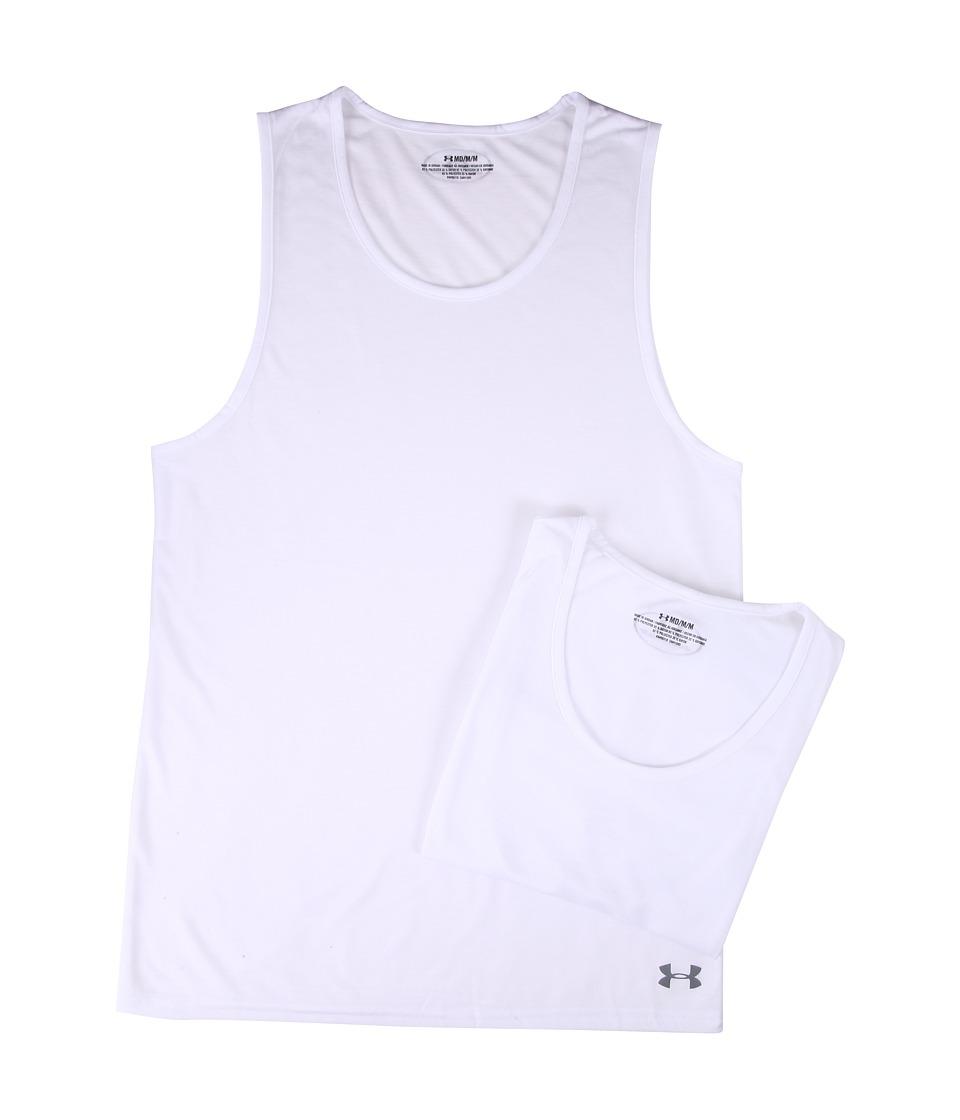 Under Armour - Core 2-Pack Tank Undershirt (White) Men's Underwear