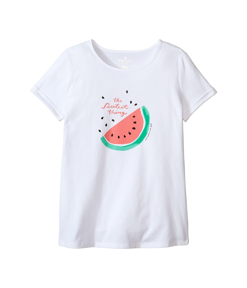 Kate Spade New York Kids - The Sweetest Thing Tee (Little Kids/Big Kids) (Fresh White) Girl's T Shirt