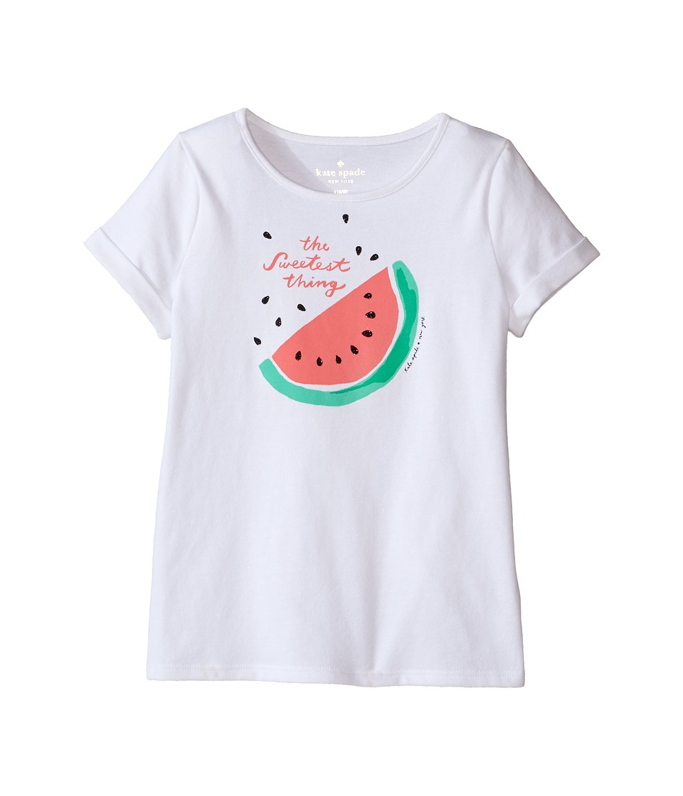 Kate Spade New York Kids - The Sweetest Thing Tee (Toddler/Little Kids) (Fresh White) Girl's T Shirt