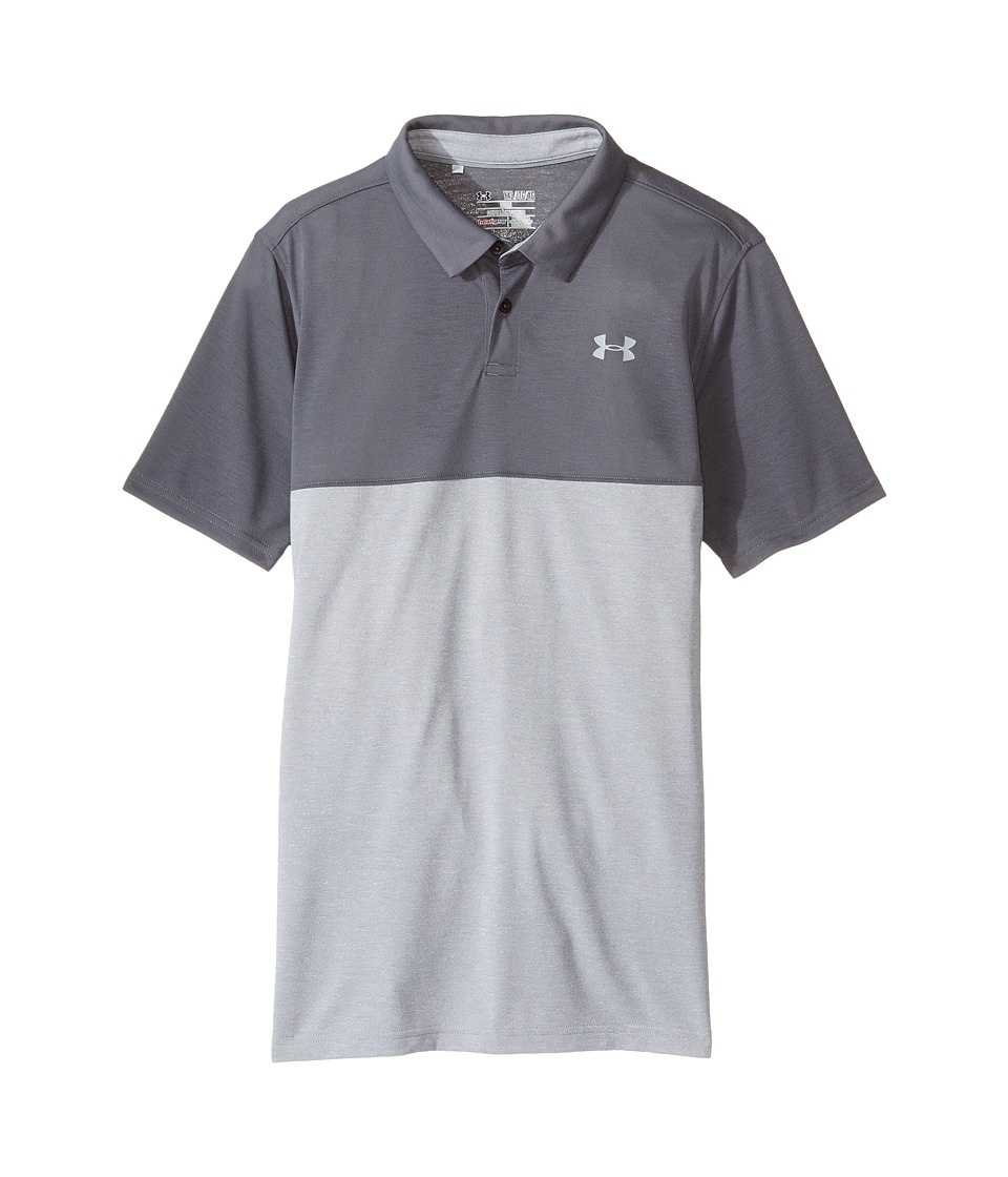 Under Armour Kids - Threadborne Blocked Polo (Big Kids) (Academy/Academy) Boy's Clothing