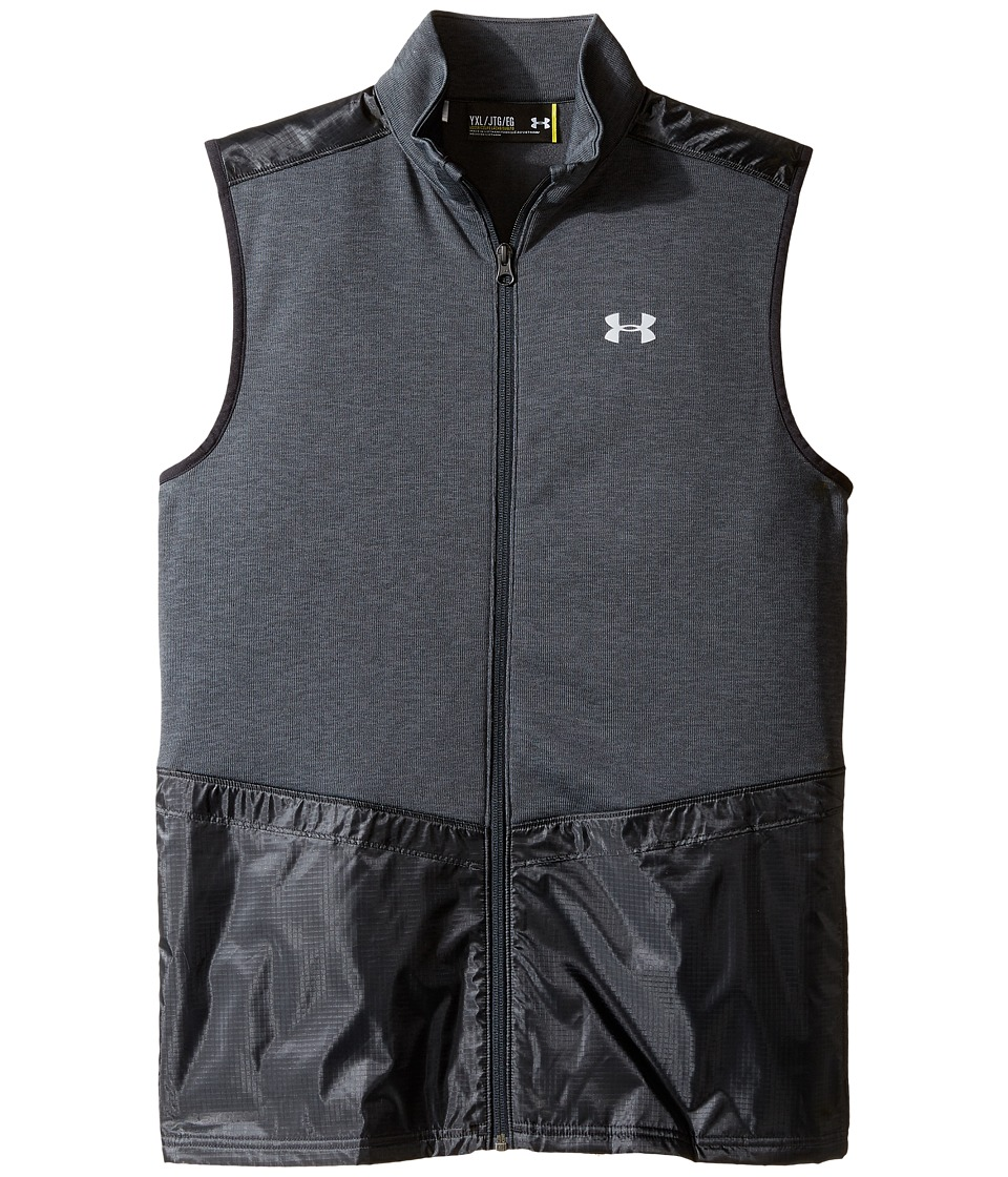 Under Armour Kids - Full Zip Hybrid Vest (Big Kids) (Asphalt Heather/Black) Boy's Vest