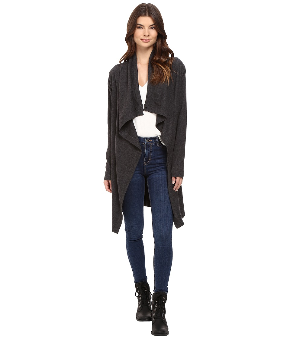 Bench - Diction Long Cardigan (Jet Black Marl) Women's Sweater