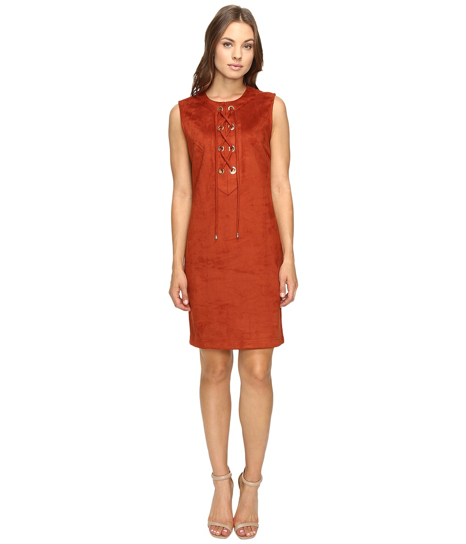 Christin Michaels - Decatur Suede Dress (Cinnamon) Women's Dress
