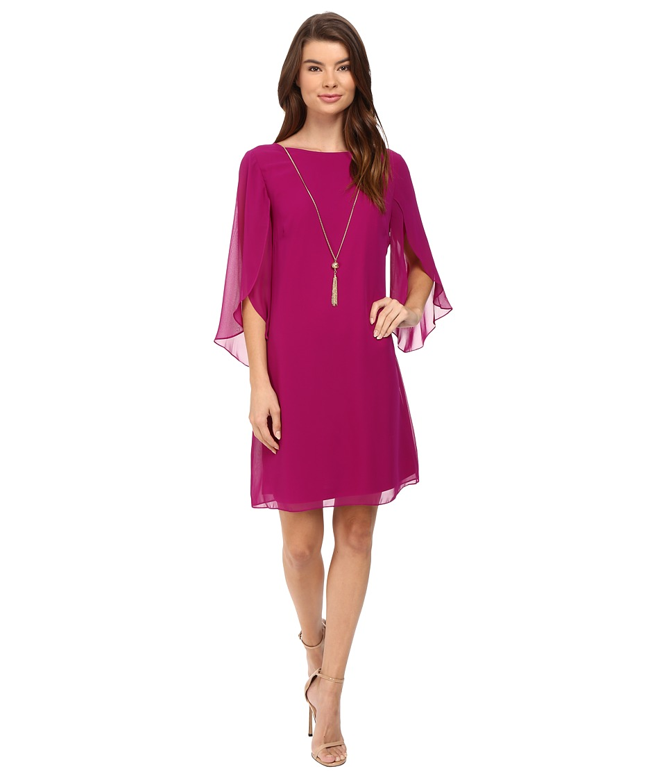 Christin Michaels - Erin Woven Sheath Dress (Fuchsia Jolly) Women's Dress