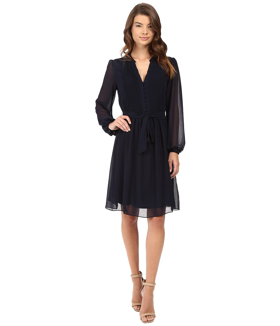 Christin Michaels - Gallaway Shirtdress (Deep Navy) Women's Dress