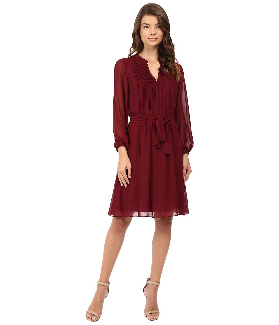 Christin Michaels - Gallaway Shirtdress (Wine) Women's Dress