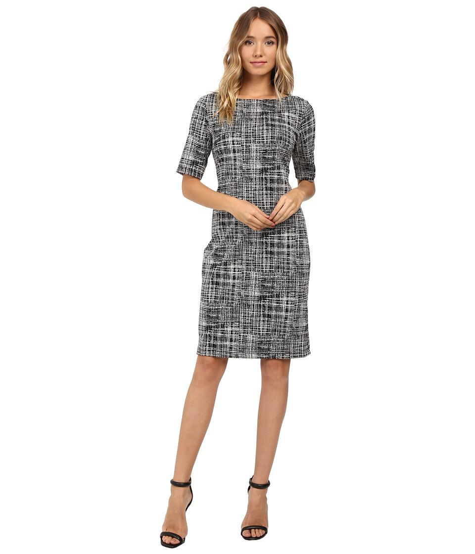 Christin Michaels Dover Dress (Black/Cream) Women